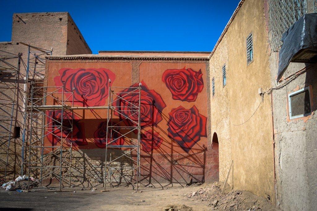 mural - dotmasters - marrakech, palais badii