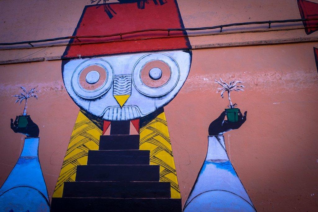 mural - giacomo bufarini RUN - marrakech, palais bahia