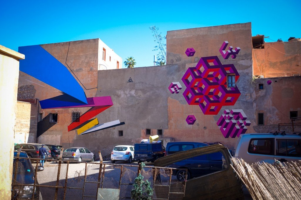 mural - remi rough & lx.one - marrakech