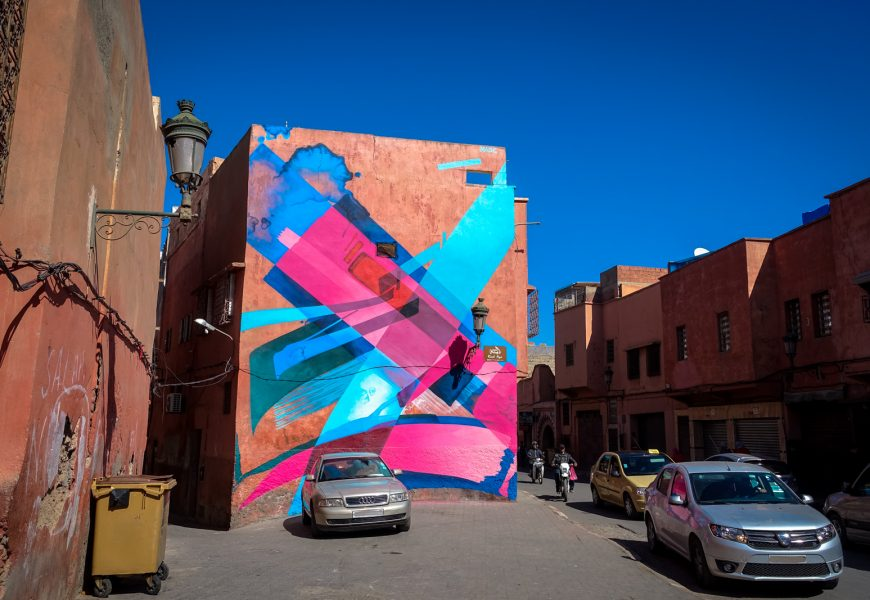 mb6streetart  murals in marrakesch