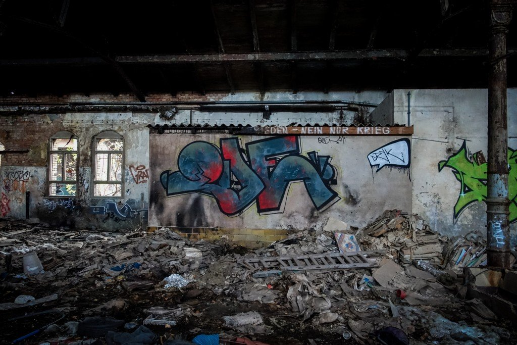 urbex graffiti - que - schlachthof, halle/saale