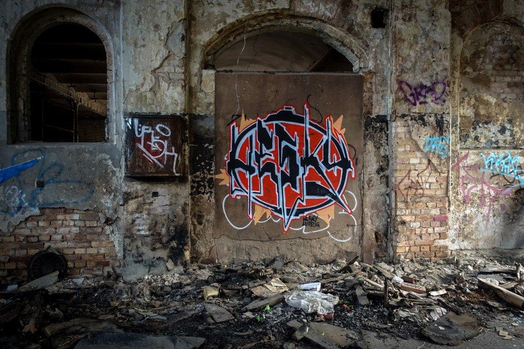 urbex graffiti - hesky - schlachthof, halle/saale