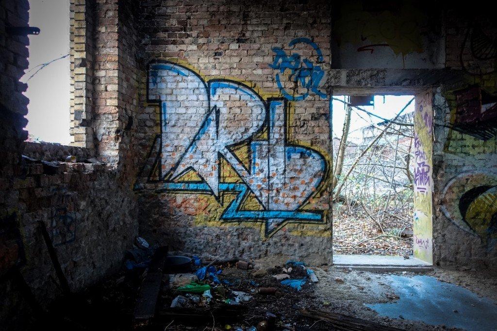 urbex graffiti - daril - schlachthof, halle/saale