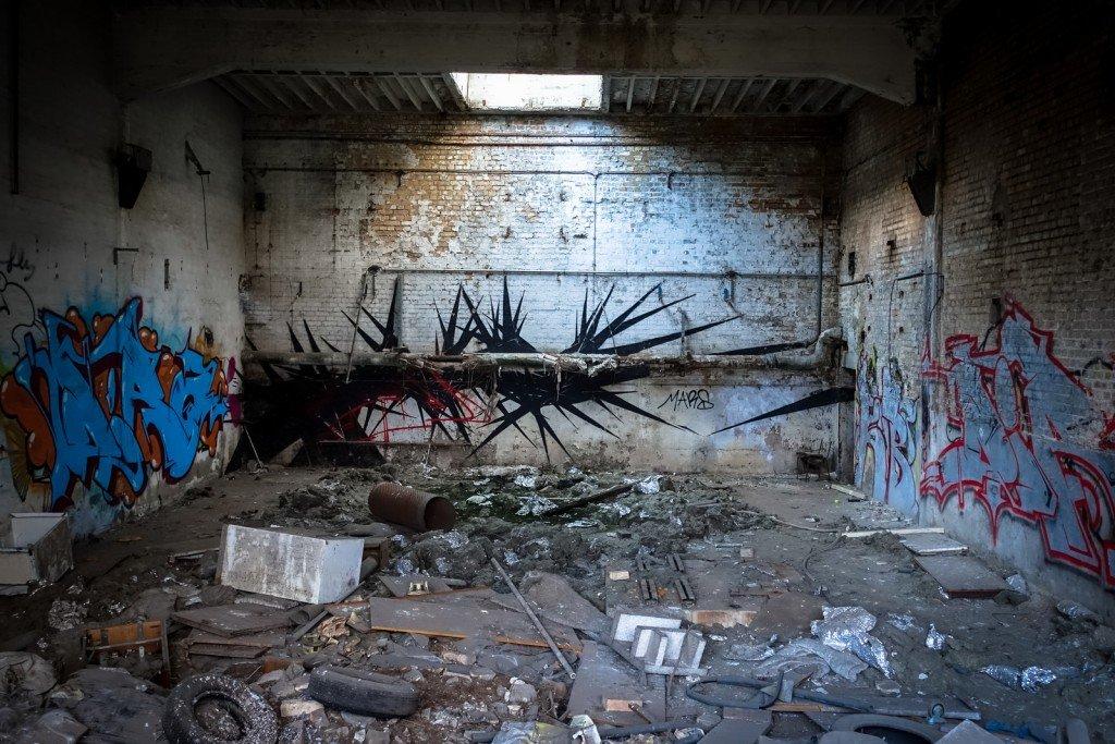 urbex graffiti - schlachthof, halle/saale