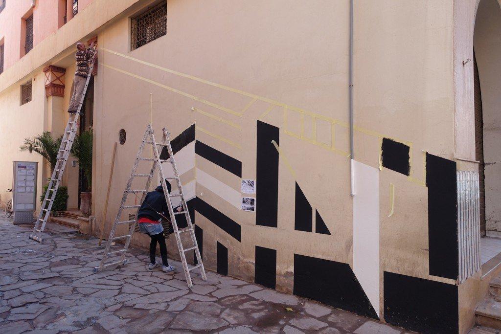 mb6streetart - dag insky - gueliz, marrakesh