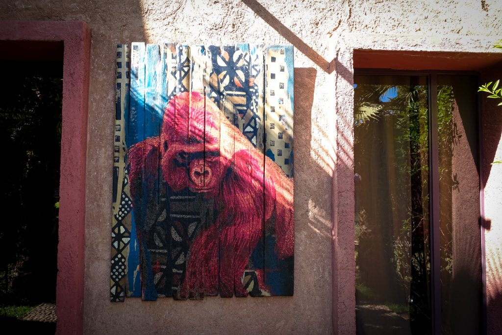 streetart - jardin rouge, marrakesh