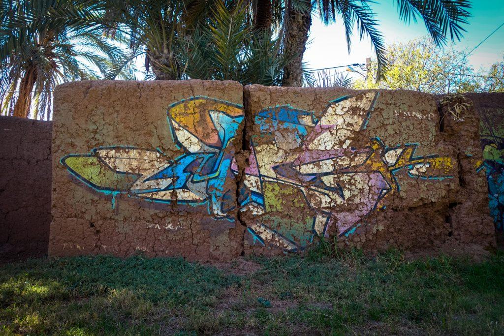 graffiti - zmogk - jardin rouge, marrakesh