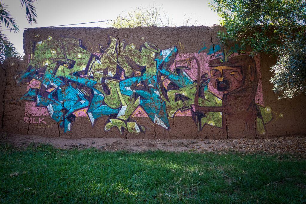 graffiti - rolk rezone - jardin rouge, marrakesh