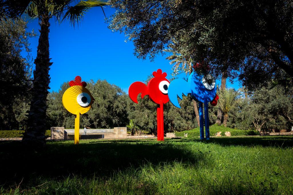 sculpture - ceet - jardin rouge, marrakesh