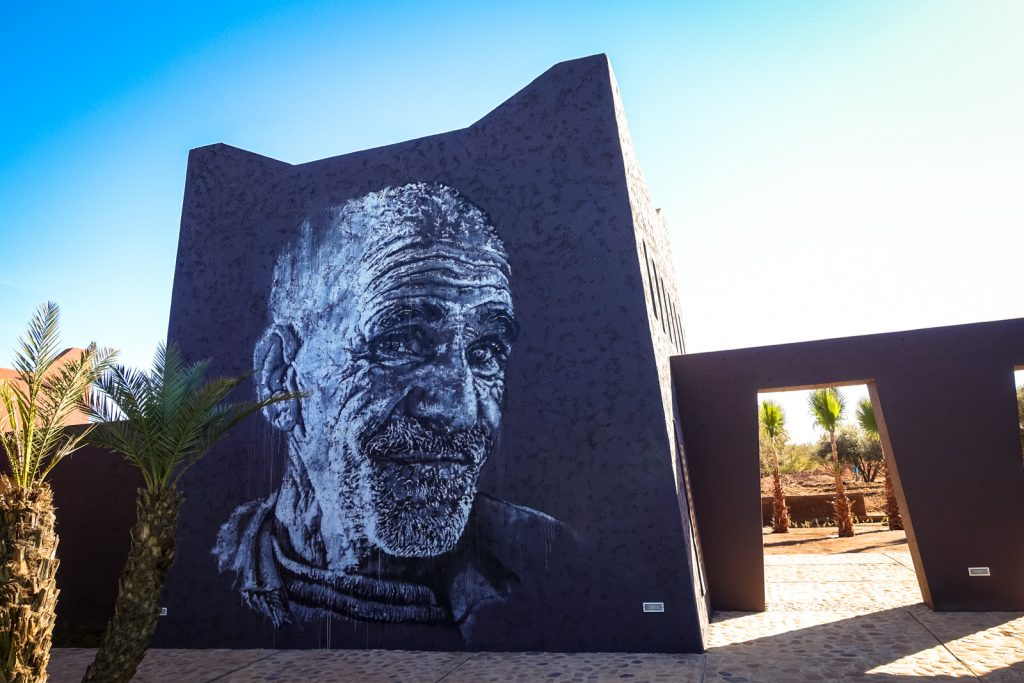 mural - ecb / hendrik beikirch - jardin rouge, marrakesh