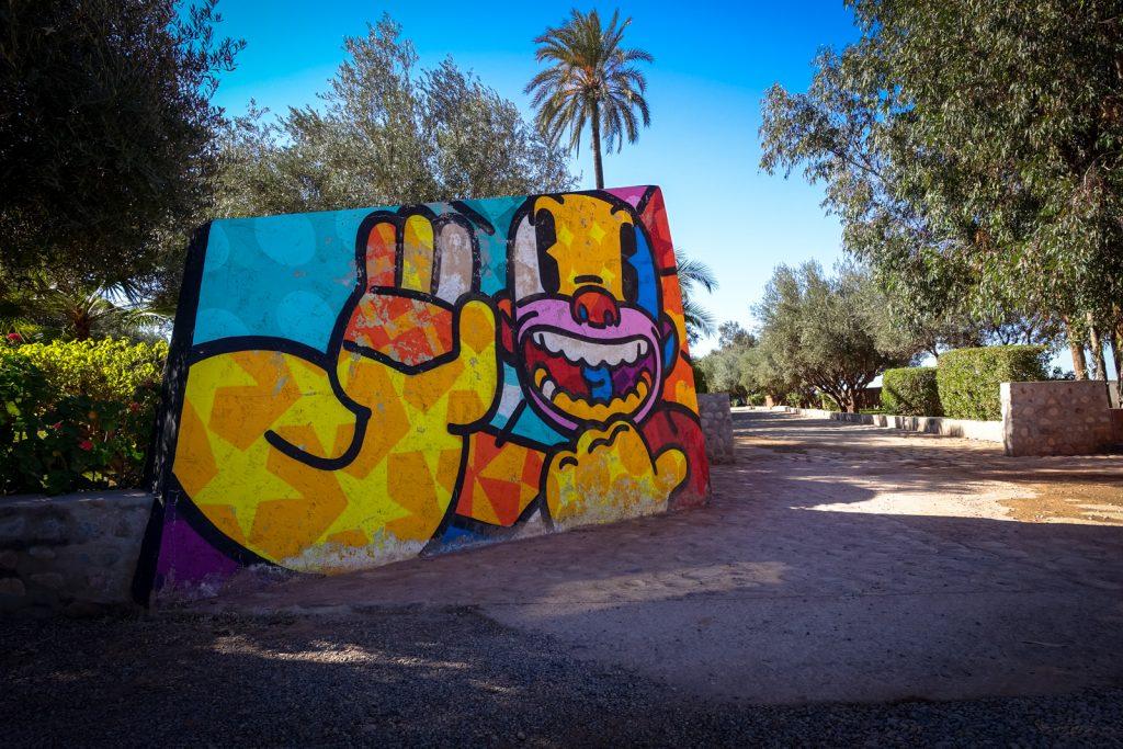 streetart - krito - jardin rouge, marrakesh