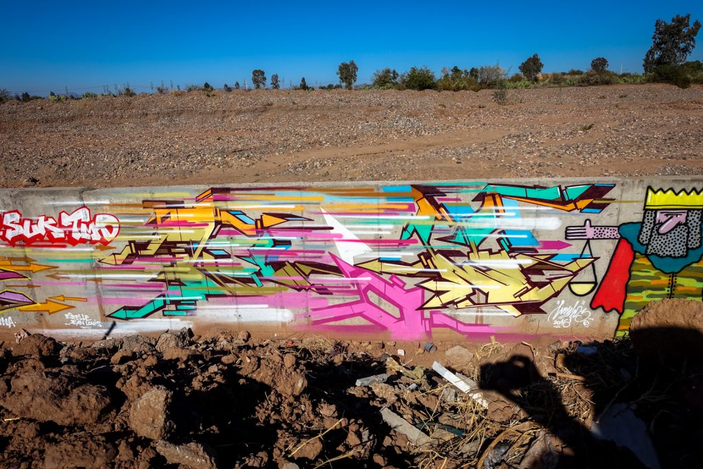 graffiti - jardin rouge, marrakesh