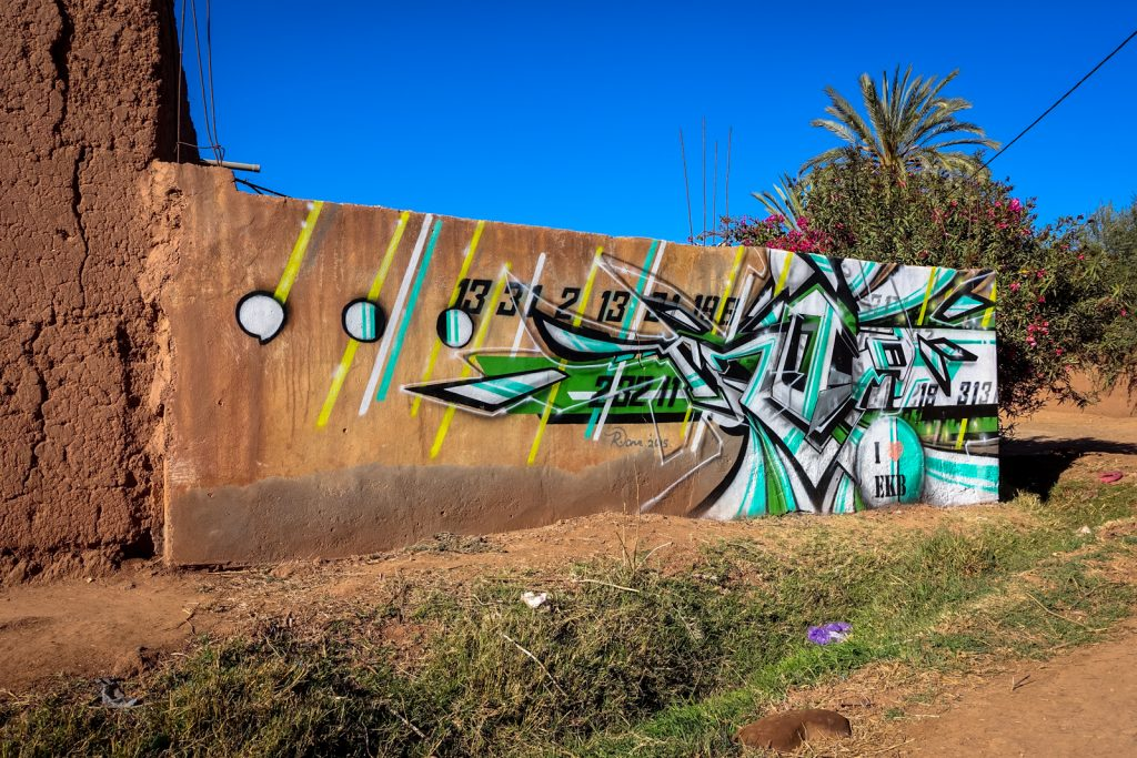 streetart - jardin rouge, marrakesh