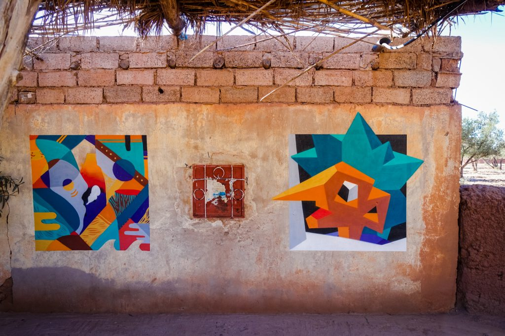 streetart - goddog . vitali tsarenkov - jardin rouge, marrakesh