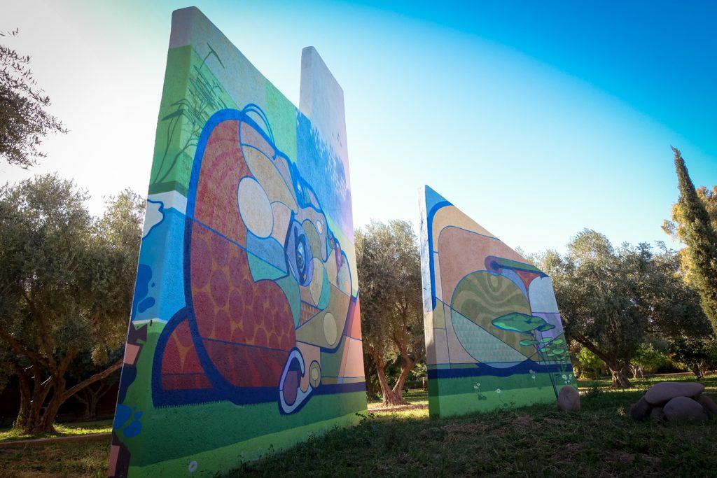 mural - bozaci (toast) - jardin rouge, marrakesh