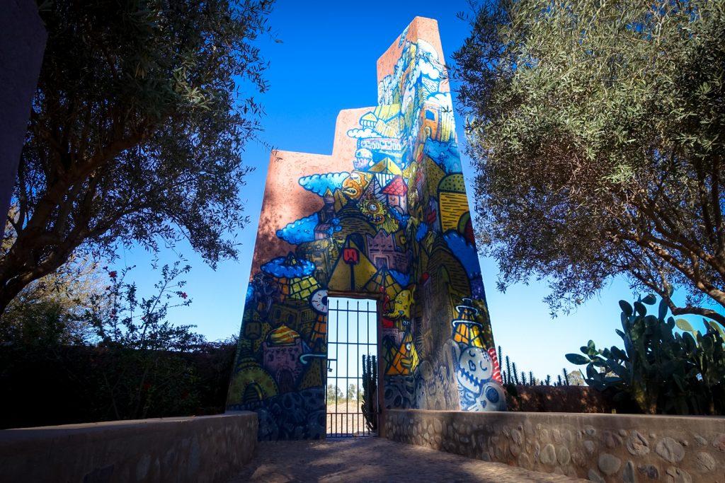 mural - jober - jardin rouge, marrakesh