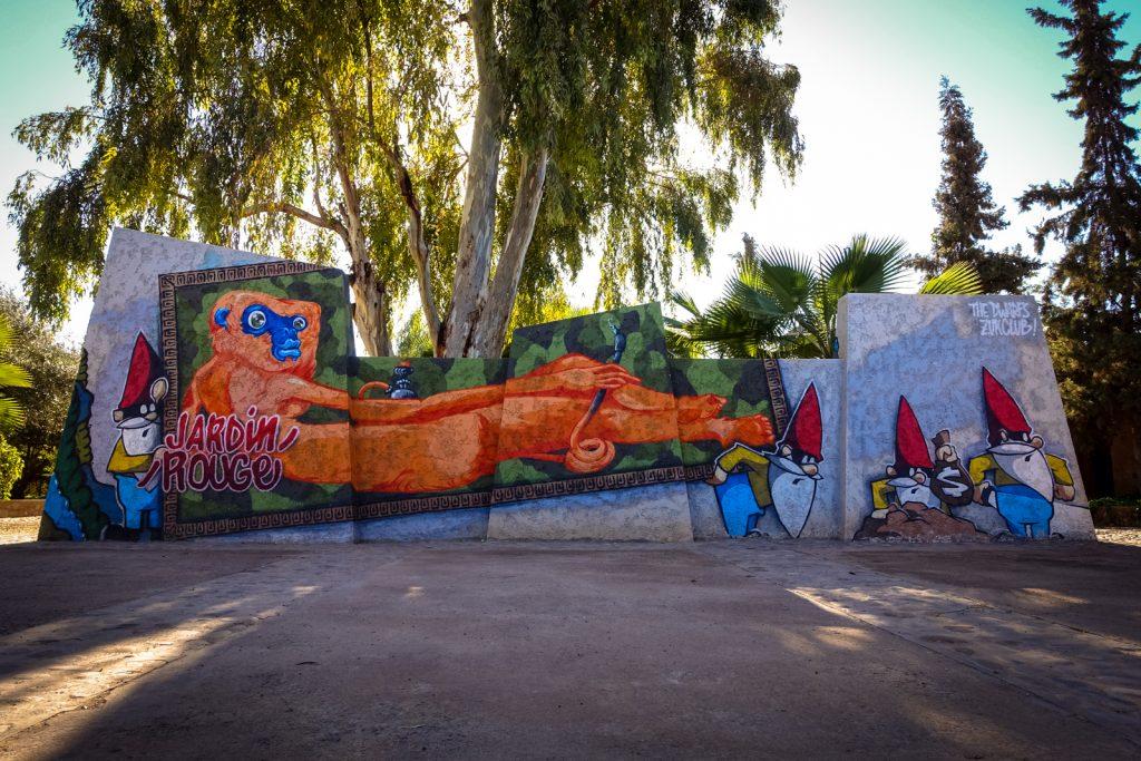 graffiti - the dwarfs, zuk club - jardin rouge, marrakesh
