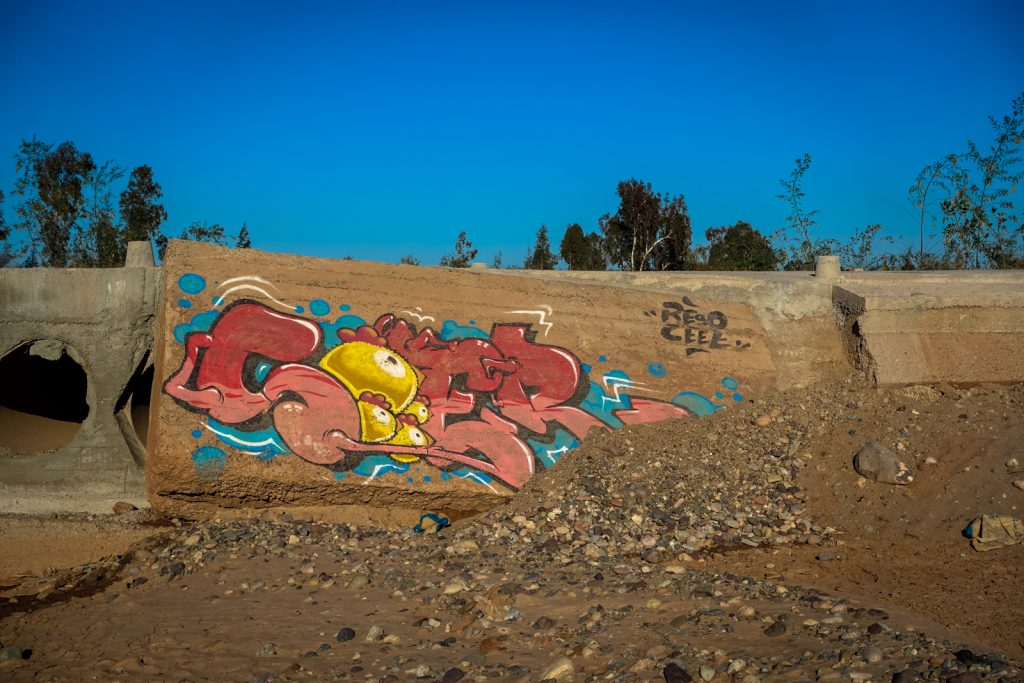 graffiti - reso & ceet - jardin rouge, marrakesh