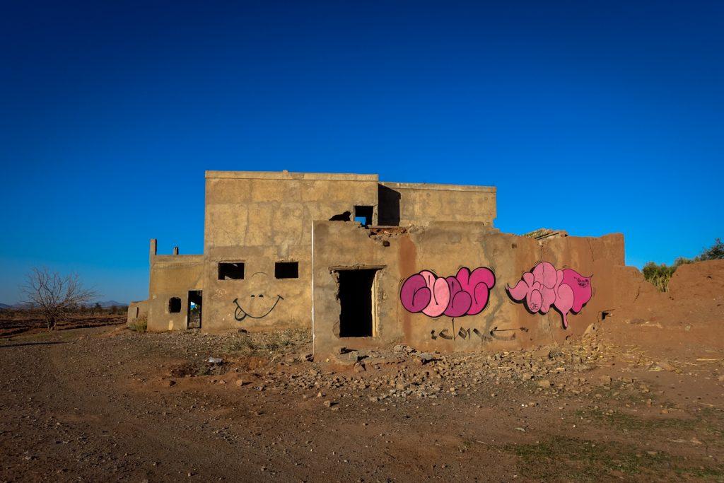 graffiti - ceet & tilt - jardin rouge, marrakesh