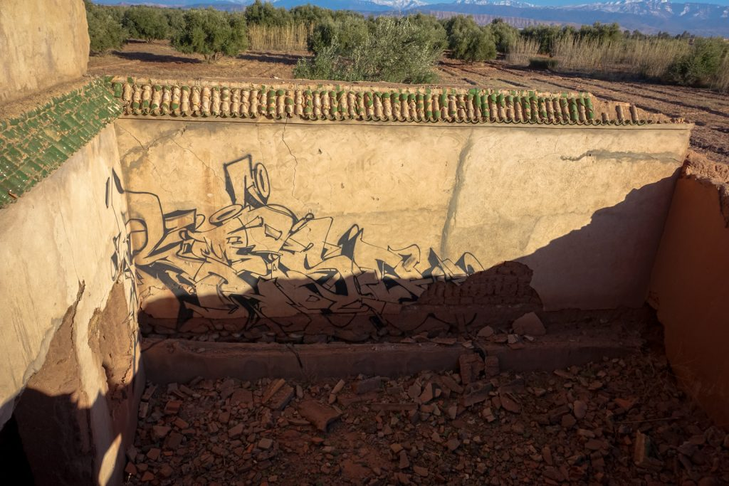 graffiti - reso - jardin rouge, marrakesh
