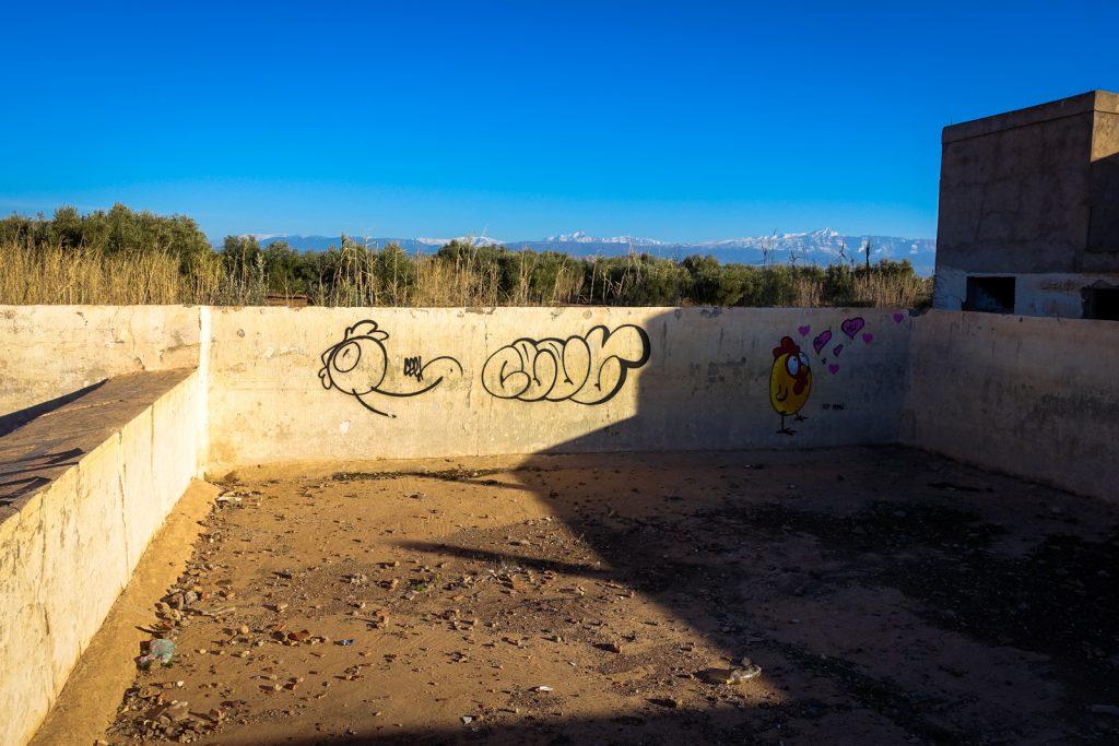 graffiti - ceet - jardin rouge, marrakesh