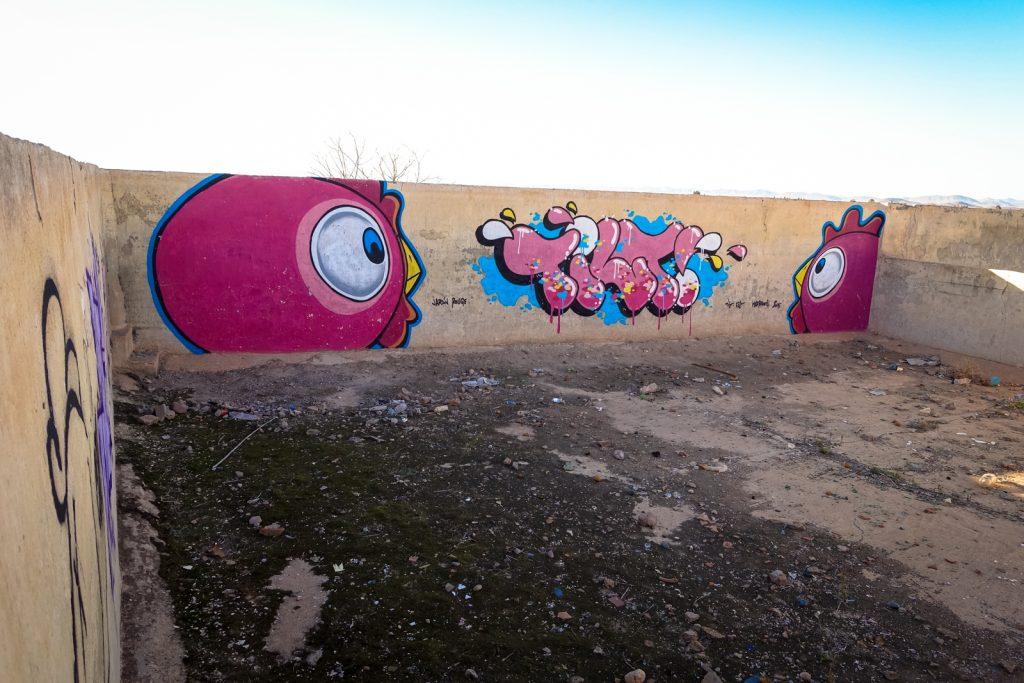 graffiti - tilt . ceet - jardin rouge, marrakesh