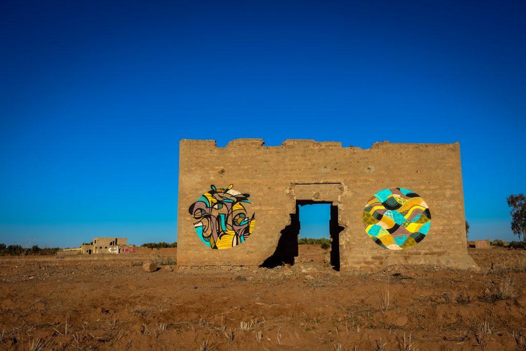 graffiti - reso & goddog - jardin rouge, marrakesh