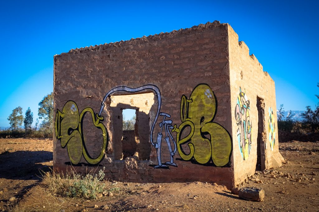 graffiti - reso - jardin rouge, marrakesh