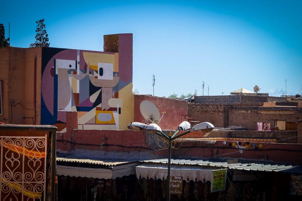 mural – alexey luka – marrakech, place des epices