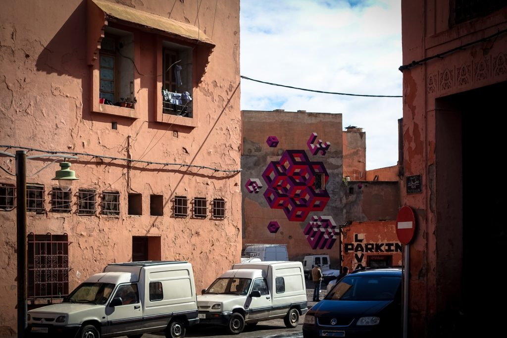 mural - lx.one for mb6 streetart - marrakech