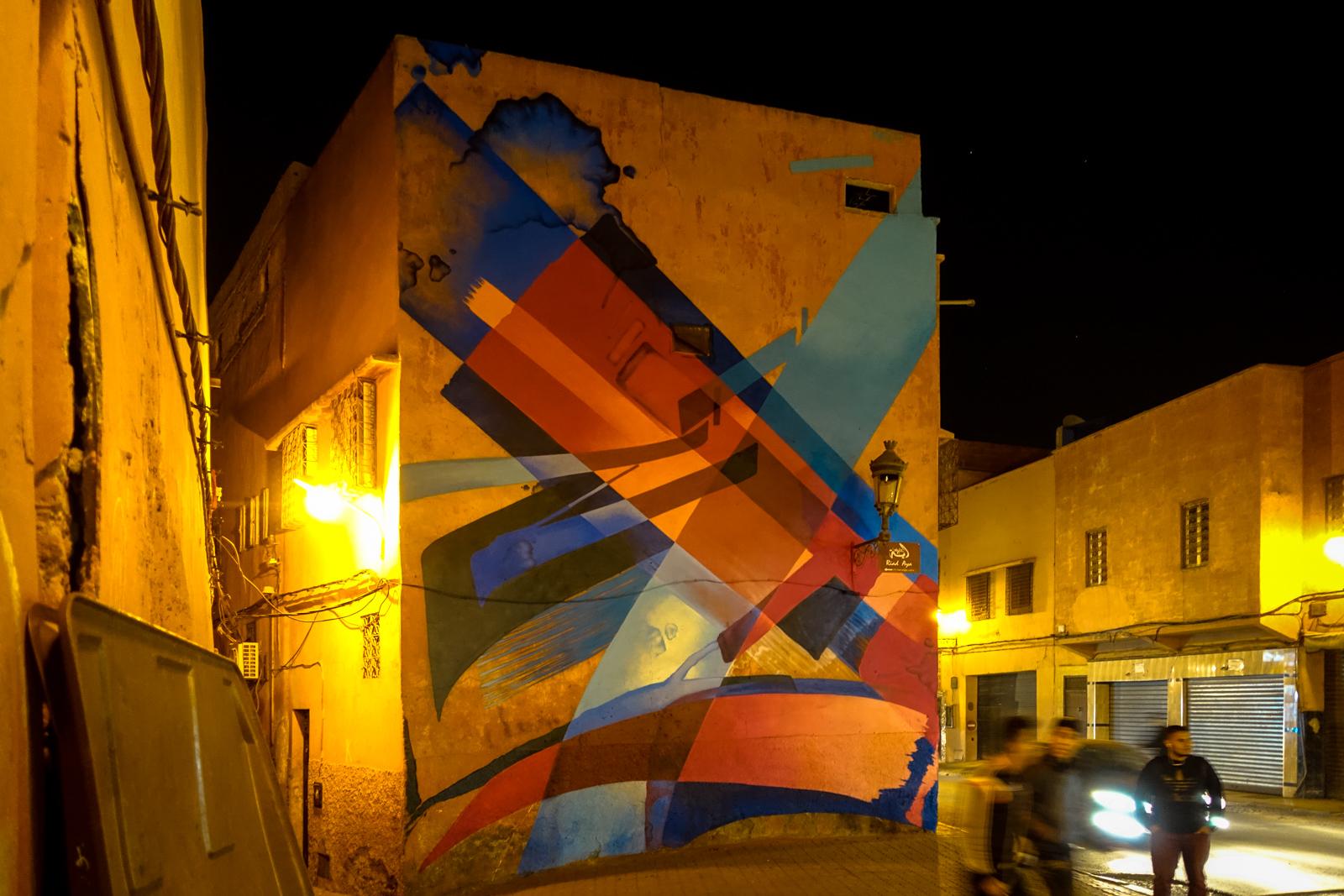 madc mural for mb6 streetart festival, marrakesh