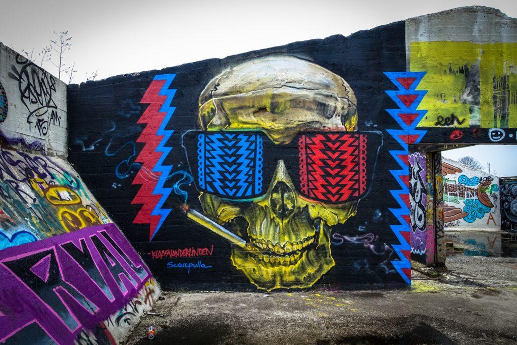 graffiti - klaas van der linden & scarpulla - grindbakken, gent