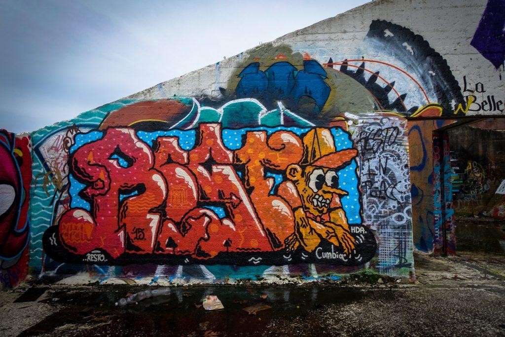 graffiti - resto - grindbakken, gent
