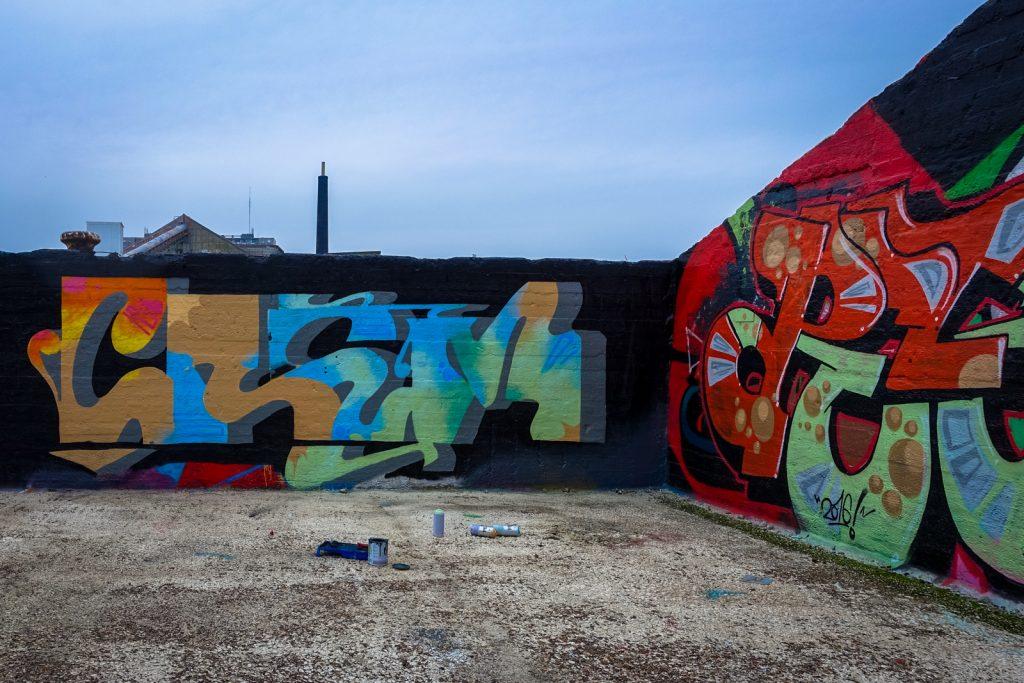 graffiti - crem - grindbakken, gent