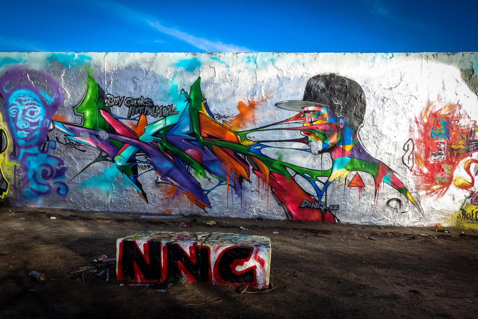 legal wall graffiti im mauerpark, berlin -jan 2016