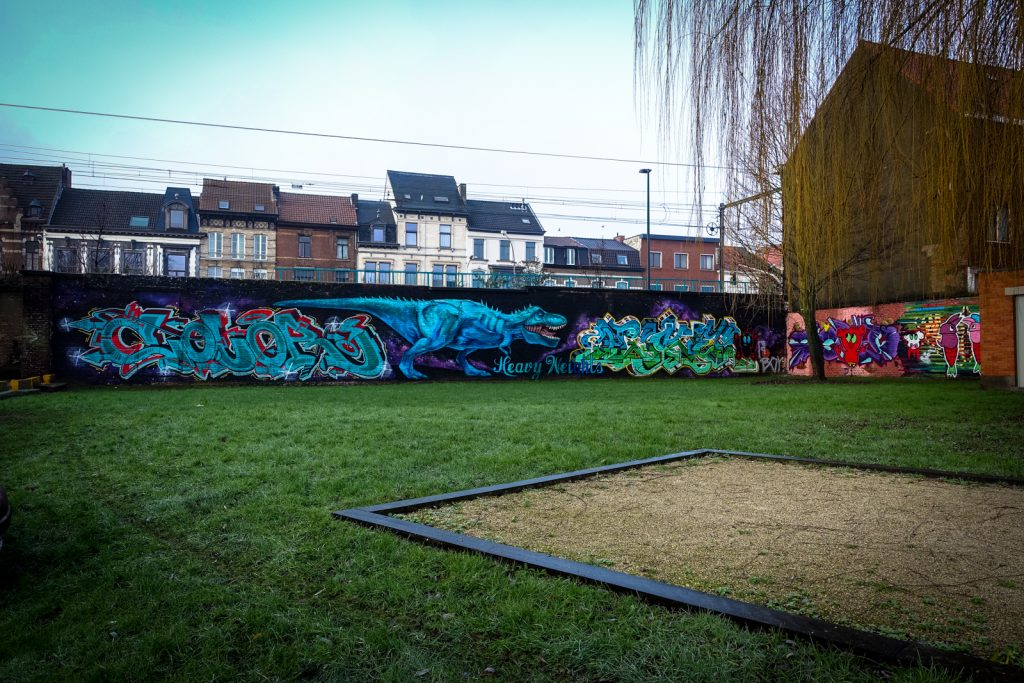 graffiti - color heavyweights, lazer, owkes hws wesr - legal wall, denderlaan, ghent