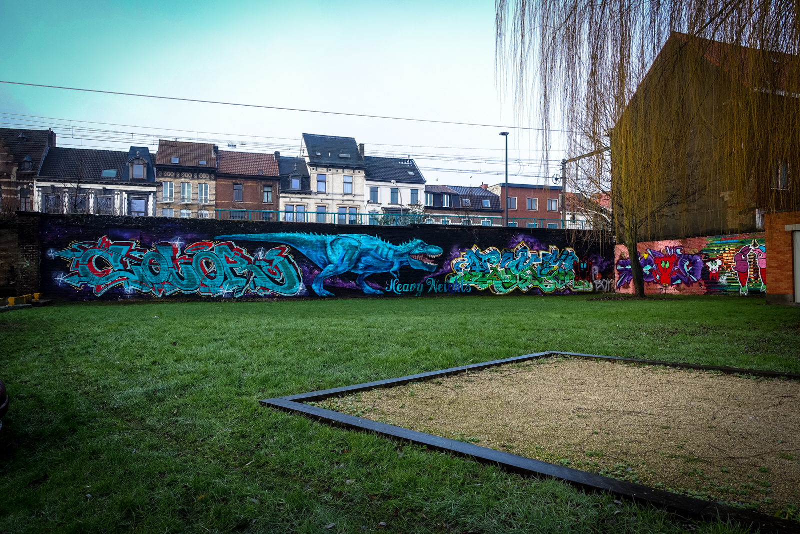 heavy weights graffiti @ legal wall, denderlaan – gent