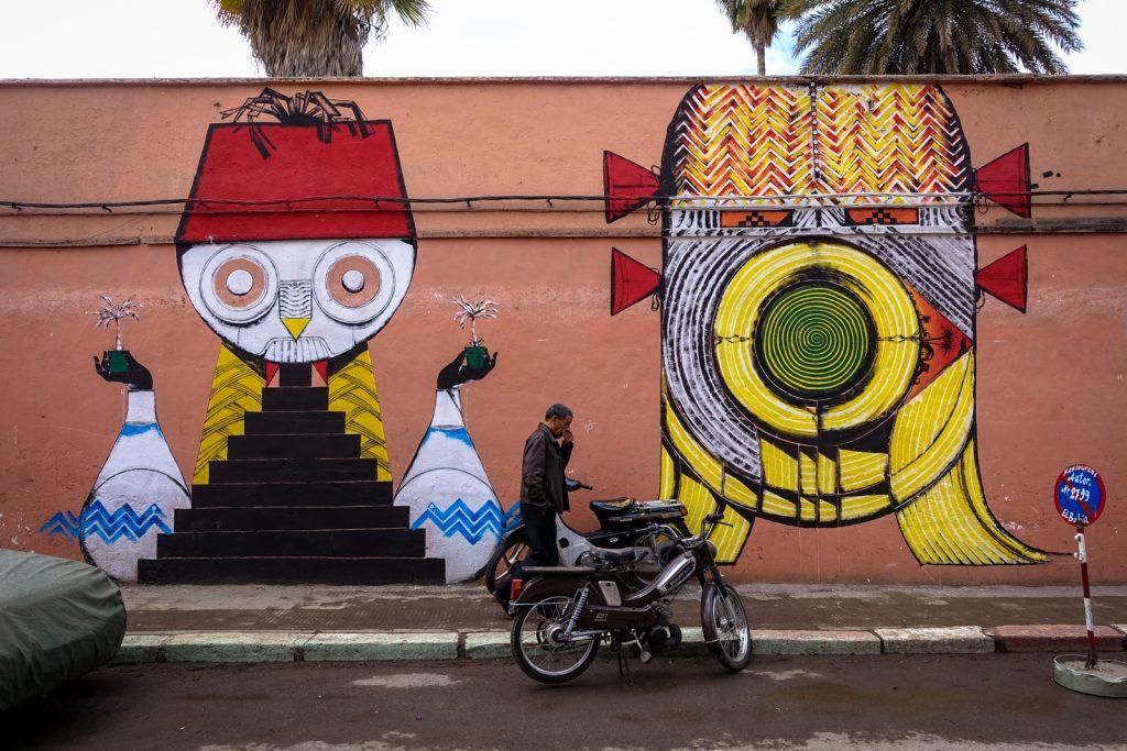 mural - giacomo bufarini RUN for mb6 streetart - marrakech