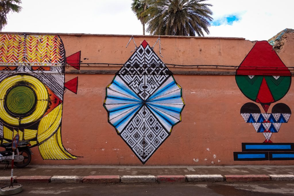 mural - giacomo bufarini RUN  for mb6 streetart - marrakech