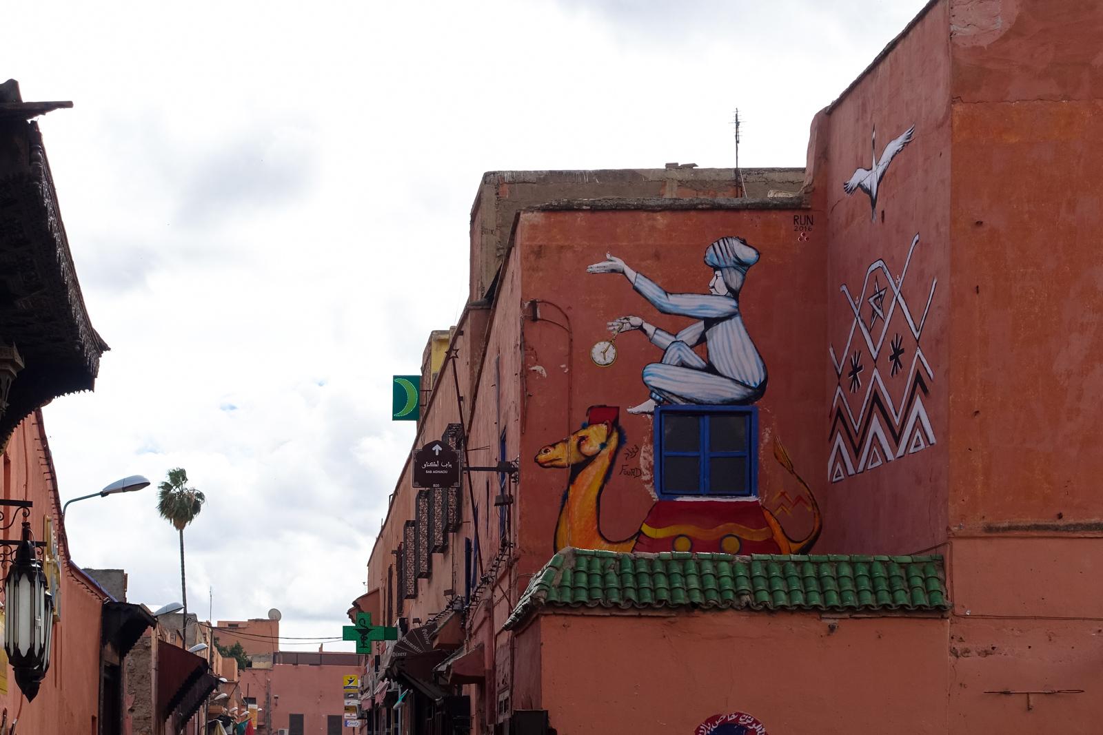 giacomo bufarini RUN murals für das mb6 streetart festival, marrakesch