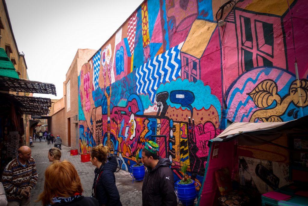 mural - sickboy for mb6 street art - marrakesh