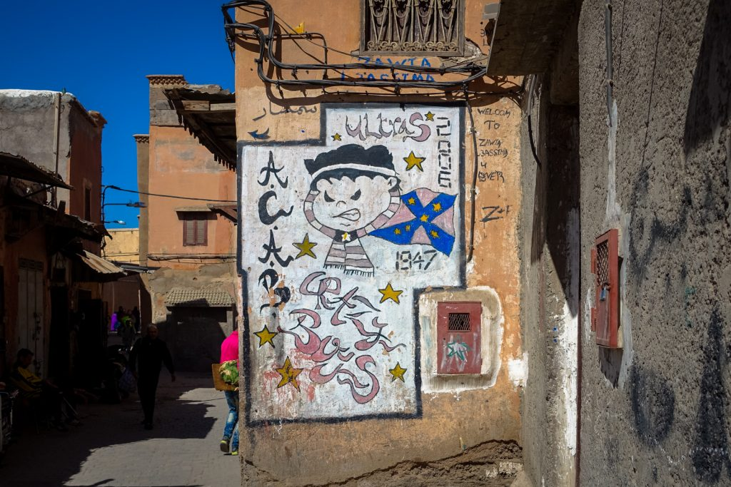 mural - crazy boys - marrakesh, medina