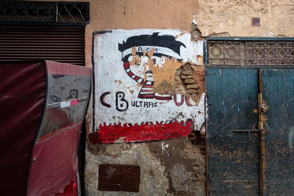 mural - crazy boys - medina, marrakesh