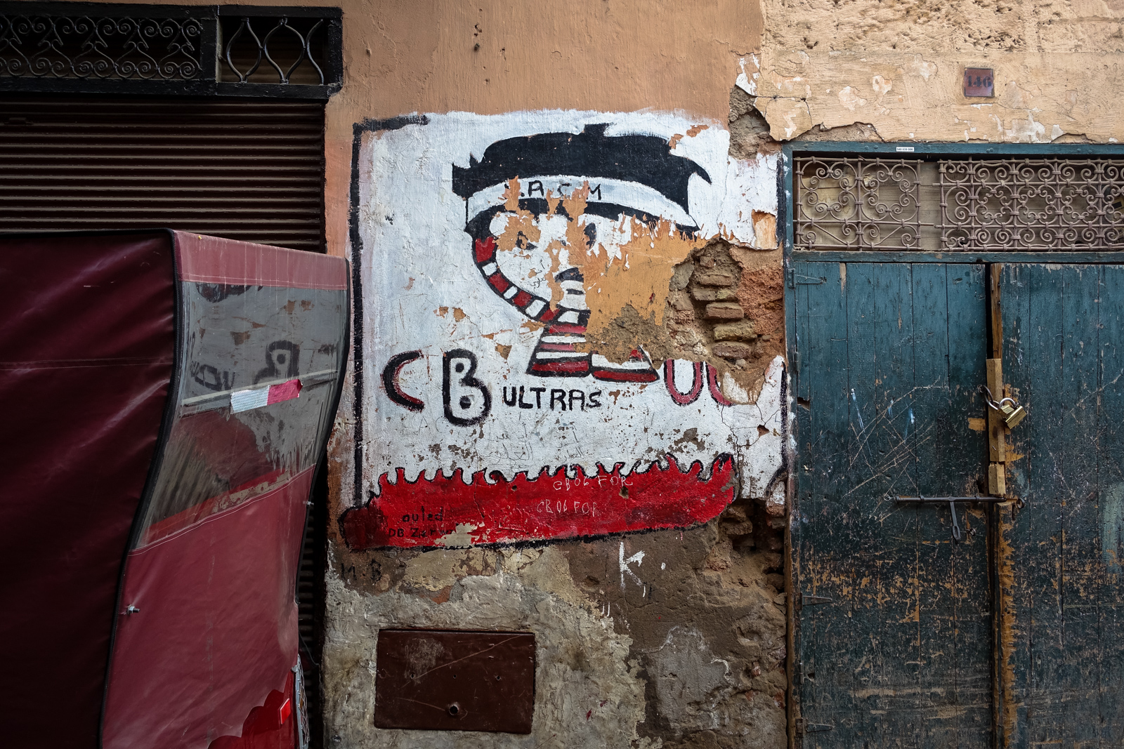 mural - crazy boys - medina, marrakesh