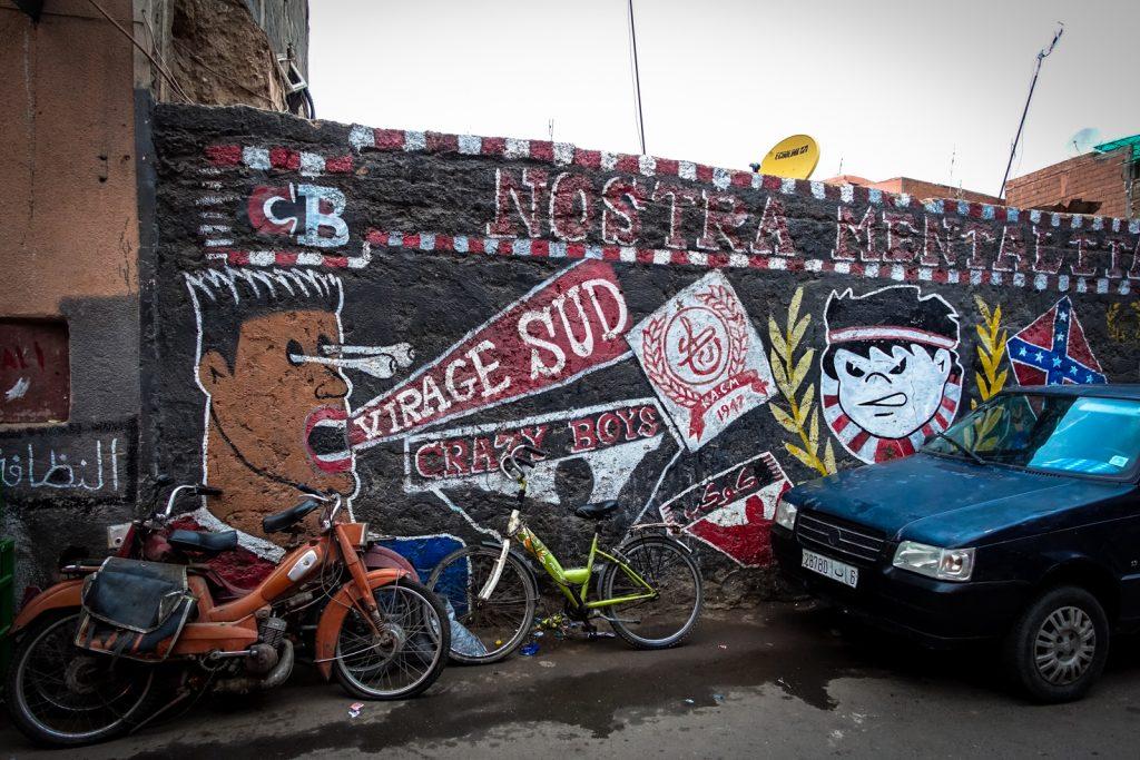 mural - crazy boys - marrakesh