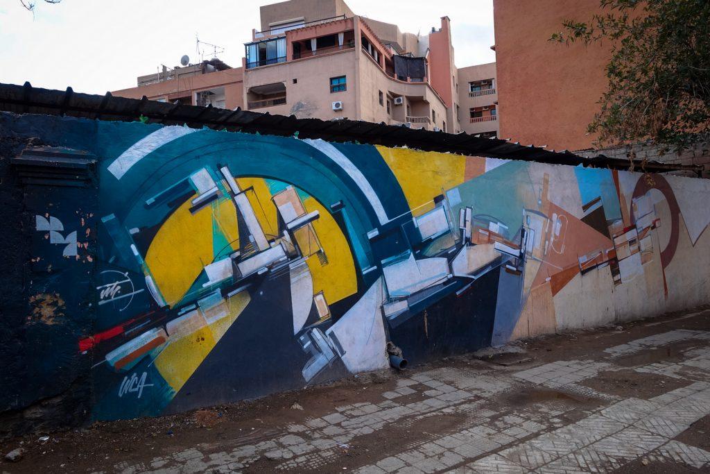 mural - augustine kofie - gueliz, marrakesh