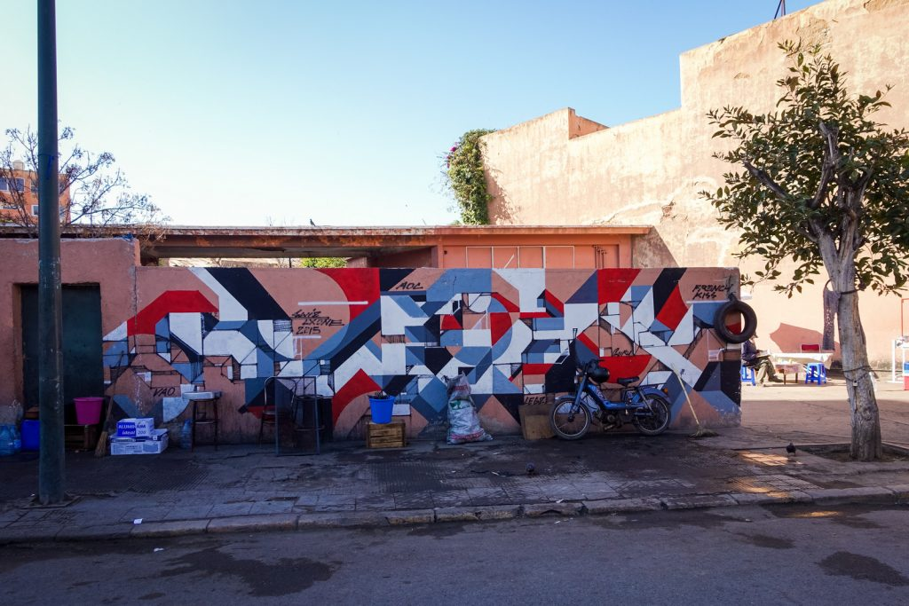 streetart - swiz & lx.one - marrakesh, gueliz