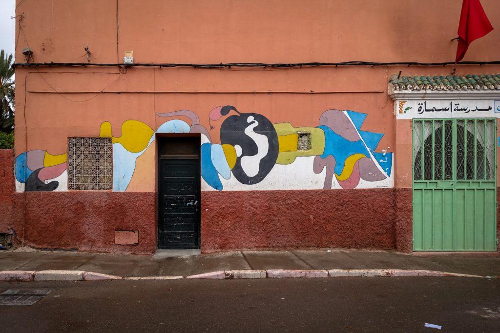 streetart - marrakesh, rue kbour chou