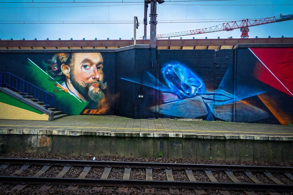 graffiti - cazn - antwerpen/berchem station