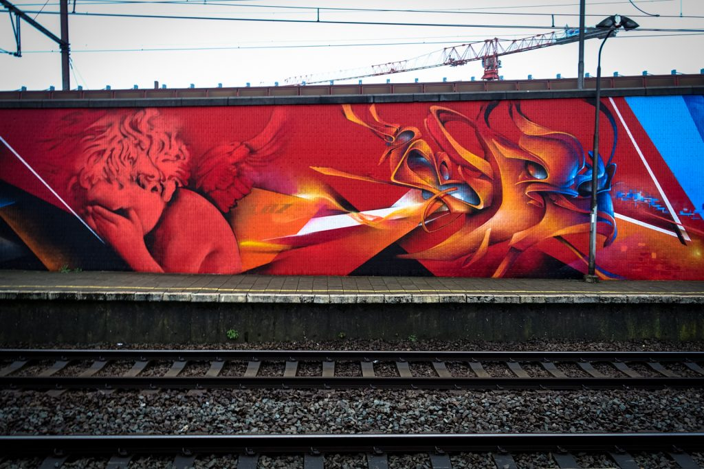 graffiti - cazn - antwerpen/berchem station